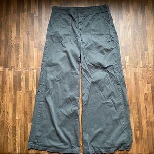 XCVI- Green wide leg plazzo pants
